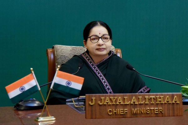 Chennai: Tamil Nadu Chief Minister J Jayalalithaa addressing on the occasion of the dedication of Kudankulam Nuclear Power Plant (KNPP) unit-I through video conference with Prime Minister Narendra Modi  and Russian President Vladimir Putin at Secretariat in Chennai on Wednesday. PTI Photo(PTI8_10_2016_000277B)